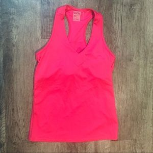 Lucky in Love Pink Athletic Tank Build In Support